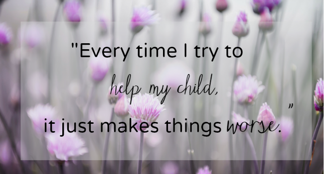 Confessions of an Imperfect Parent: I Try To Help But Can't